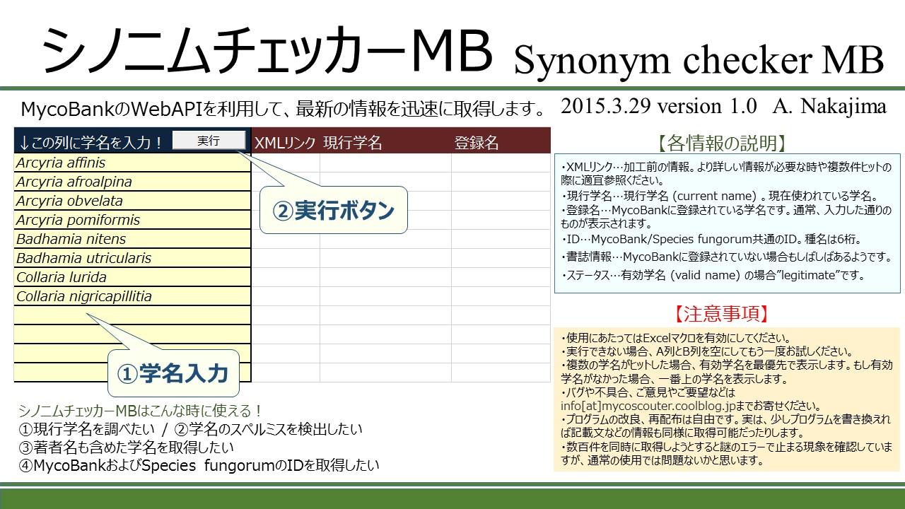 シノニムチェッカーMB ダウンロード
